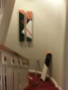 Artwork Installation in Stairwell