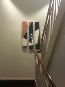 Artwork Installed in Stairwell