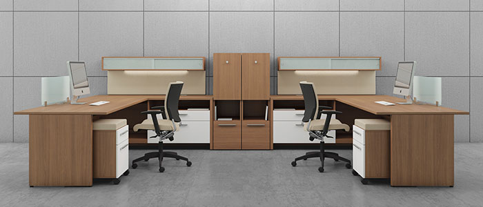 Global Princeton Laminate Team Desking Unit