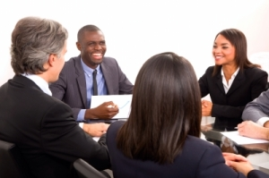 People around conference table
