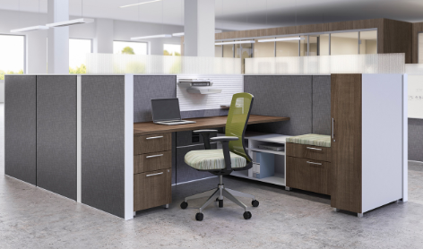 AIS Matrix Single Cubicle with half-height glass panels