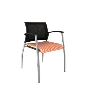 AIS-Grafton-4060C-Front-Right-View-Orange-Seat