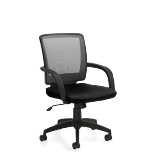 OfficesToGo-OTG10900B-Mesh-Tilter-Chair-Front-Right-View