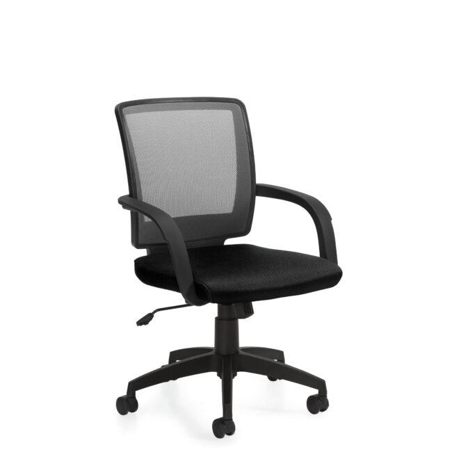 OfficesToGo-OTG10900B-Mesh-Tilter-Chair-Front-Right-View