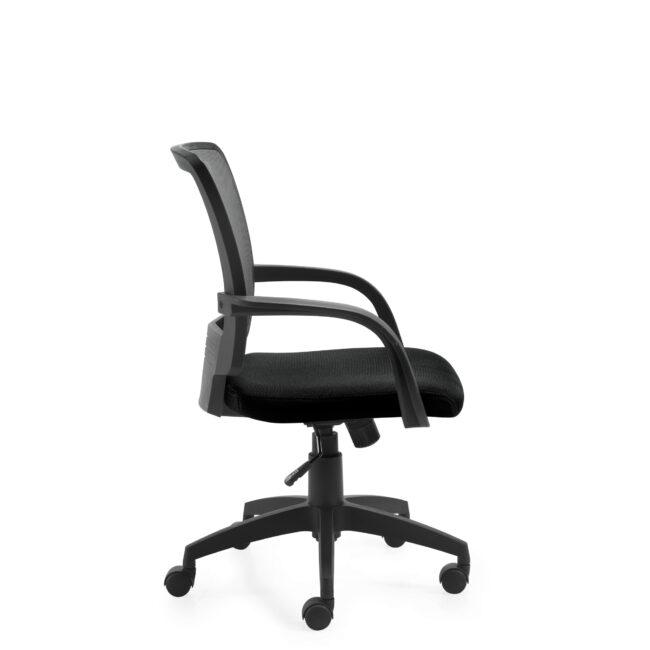 OfficesToGo-OTG10900B-Mesh-Tilter-Chair-Right-View