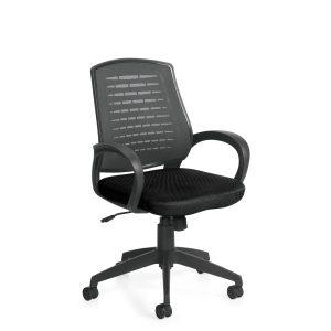 OfficesToGo-OTG10902B-Mesh-Back-Tilter-Chair-Front-Right-View