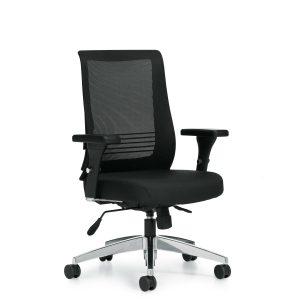 OfficesToGo-OTG11325B-Mesh-Synchro-Tilter-Chair-Front-Right-View