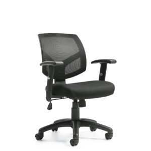 OfficesToGo-OTG11514B-Mesh-Mid-Back-Tilter-Front-Right-View