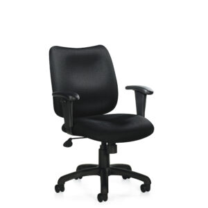 OfficesToGo-OTG11612B-Managerial-Tilter-Chair-Front-Right-View