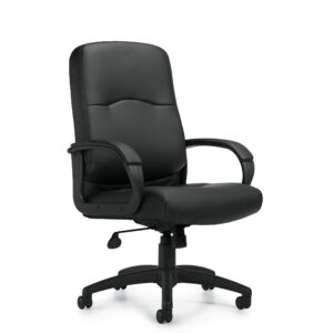 OfficesToGo-OTG11617B-Luxhide-Executive-Chair-Front-Right-View