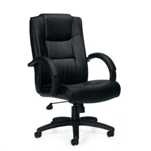 OfficesToGo-OTG11618B-Luxhide-Executive-Tilter-Chair-Front-Right-View