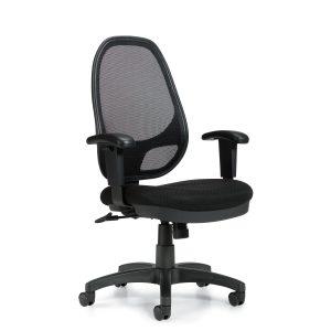 OfficesToGo-OTG11641B-High-Back-Mesh-Synchro-Tilter-Chair-Front-Right-View