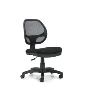 OfficesToGo-OTG11642B-Mesh-Armless-Task-Chair-Front-Right-View