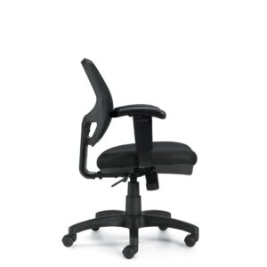 OfficesToGo-OTG11647B-Mesh-Mid-Back-Chair-Right-View