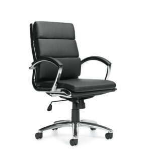 OfficesToGo-OTG11648B-Luxhide-Segmented-Chair-Front-Right-View