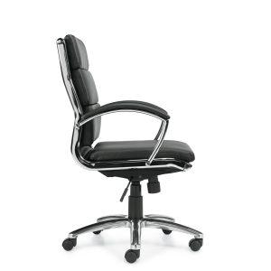 OfficesToGo-OTG11648B-Luxhide-Segmented-Chair-Right-View