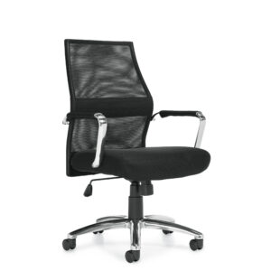 OfficesToGo-OTG11657B-Mesh-Tilter-Chair-Front-Right-View