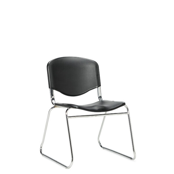 OfficesToGo-OTG11700-Stack-Armless-Chair-Front-Right-View