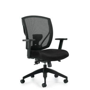 OfficesToGo-OTG2801-Mesh-Synchro-Tilter-Chair-Front-Right-View