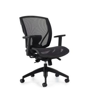 OfficesToGo-OTG2821-Mesh-Synchro-Tilter-Chair-Front-Right-View